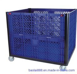 Heavy Duty Contenedor de almacenamiento de fácil montaje y contenedor de palet y despliegue de contenedor a granel