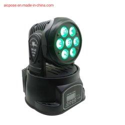 7X10W LED 소형 이동하는 맨 위 수동 직업적인 쇼 점화
