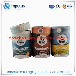 De grado alimentario de la marca OEM de cartón de papel de regalo del cilindro de tubo redondo de té Caja de embalaje