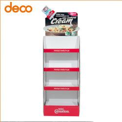 Розничных торговых точек Custom пол тип 3 полок косметики картон подставка для дисплея
