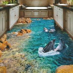 ورق حائط لصق ذاتي من الأرضية من الفينيل ورق ملصق الأرضية ثلاثي الأبعاد