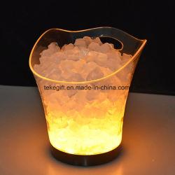 Nouveau produit étanche PS acrylique claire lumière LED de godet de vin de glace en plastique de godet