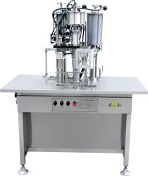 Halb automatische Aerosol-Plombe und Dichtungs-Maschine mit Luft-Luftpumpe