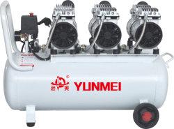 550W/750W-3-70L d'huile compresseur à air libre et silencieux double tête
