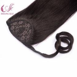 Оптовая торговля в области волос Реми Clip Ponytail Hairpieces кулиской Ponytail волос