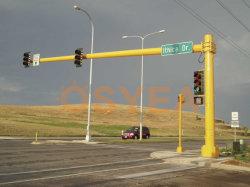 O LED de energia solar exterior Osyea por imersão a quente de aço galvanizado com tráfego De Post/Luz de Rua Pólo de iluminação