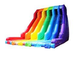 4 Lane Rainbow seca insufláveis deslize para adultos Chsl727