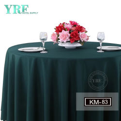 Factory Sale Dual Use Fancy Wedding Banket Green Round Table Doek