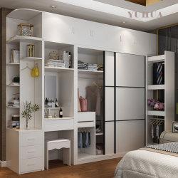 Chambre à coucher Set de meubles en bois coin penderie Armoire avec porte coulissante (YH-W3021)