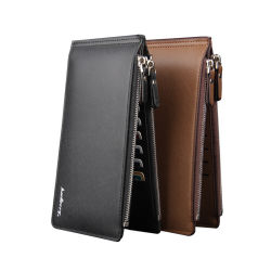 Marque célèbre sac d'embrayage mâle Téléphone cellulaire Carte de poche Portefeuille Portefeuille en cuir Coin Purse Hommes