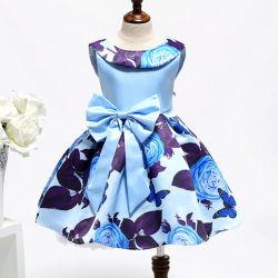 Il bambino dei bambini di modo scherza i vestiti da partito svegli dolci della ragazza di fiore della flora della principessa Sleeveless Pageant Vestido De Nina