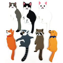 Новейшая мода пользовательские сшитых клей животного холодильник крюк