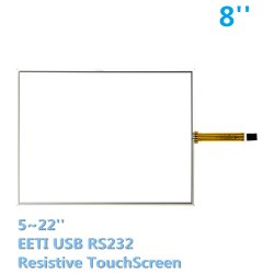 8inch 4wire 5wire タッチパネル Eeti RS232 基板接触ガラス抵抗性モニター安い