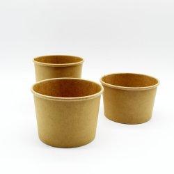 Biodégradable PLA bol de soupe chaude jetables en papier