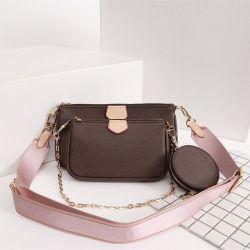 3 قطع/مجموعة متعددة من قطع Pochette إكسسوارات Purse الأصلي زهرة الجلد L V الكتف حقيبة Crossbody Bag أصلية أزياء مشهورة ماركة فاخرة المرأة السيدة حقيبة اليد