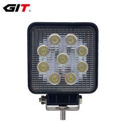 농업 기계장치 트럭 트랙터 굴착기 (GT1007-27W)를 위한 방수 27W 4 인치 LED 일 램프