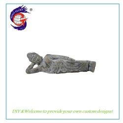 Buddha addormentato si trova giù statue della decorazione della resina della casa del Figurine del Buddha