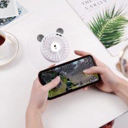 Slim recargable la pegatina de juegos móviles portátiles Mini Ventilador con LED