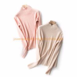 女性の純粋なMerino女性のためのウールによって編まれるプルオーバーのセーター