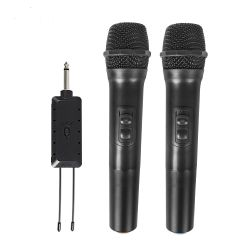 Flexibles Karaoke-Handmikrofonsystem UHF mit hoher Klangqualität Mikrofone Tragbares Drahtloses Mikrofon