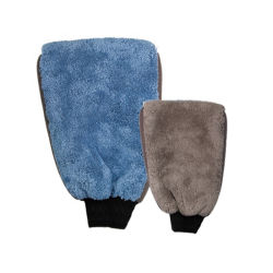 Nouveau style de la microfibre Polyester-Nylon Cargem Coral Fleece Gant de nettoyage