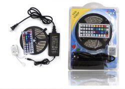 블리스터 LED 스트립 IP65 5m RGB LED 스트립 44키 컨트롤러 12V5a 전원 공급 장치 포함