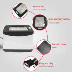 USB RS232 Boîte de paiement mobile câblé Lecteur de codes-barres QR 2D HS-2001b