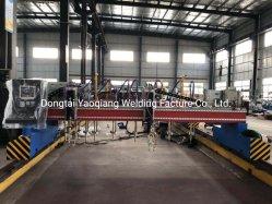 China CNC automática barata la placa de acero inoxidable acero al carbono de metal de la placa de acero tipo pórtico automático tira recto de Plasma de la llama de la máquina para corte de la viga H