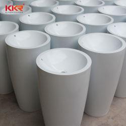 Lavabo sur colonne de marbre de surface solide sans dissipateur permanent