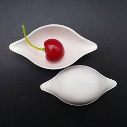 Bagaço de cana-de-descartáveis de louça compostável molho de soja prato para a parte