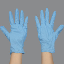 Guanti in nitrile monouso senza polvere blu Guanti in nitrile puro