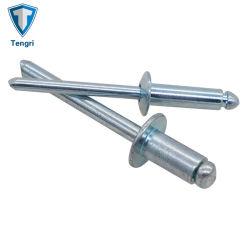 Corpo em aço de alta qualidade Mandril de aço com extremidade aberta Rebites pop DIN 7337A