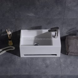 Surface solide blanc Lavabo porcelaine sanitaire
