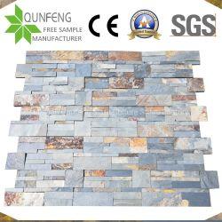 Muro di sostegno impilato arrugginito di rivestimento della Cina dell'ardesia di pietra del pannello