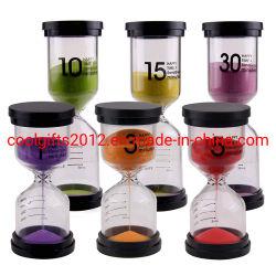 1 Minieme Kleurrijke Plastic Klok van het Spel van de Raad van het Pak van de Tijdopnemer van Zand 3 5 10 15 30 Vastgestelde voor Jonge geitjes