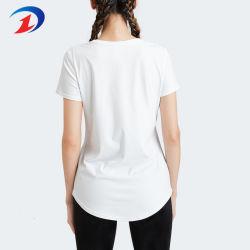 Les femmes Short Sleeve occasionnel plaine d'ajustement lâche T Shirt chemisier
