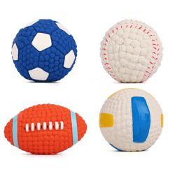 El sonido de goma de mascar de Baloncesto de formación de perro mascota Squeaky Toy Ball