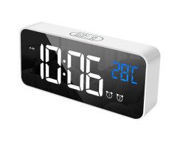 Reloj LED Reloj de pared Alarma Digital Termómetro de retroiluminación LED, pantalla para habitaciones La decoración del hogar de reloj de mesa