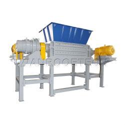 L'axe double déchets papier carton Pneu en caoutchouc de la ferraille tuyau forfaitaire de bois de barils et fûts en plastique pour le recyclage de déchiquetage