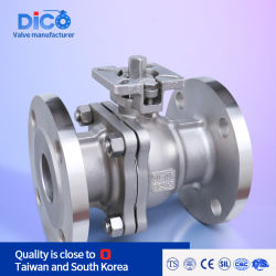 DICOI インベストメントキャスティング CF8/CF8m DIN JIS ANSI フルポート 2PC 産業用フランジフローティングボールバルブ