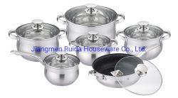 أدوات المطبخ من نوع Frypan 6pcs 12PCS من دون تلتصق من الفولاذ المقاوم للصدأ مع لون فضي