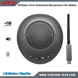 ميكروفون لاسلكي Omni-Direcional من الجيل الرابع مع بطارية مكبر صوت
