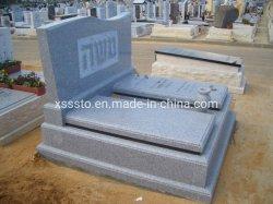 イスラエル共和国の記念物の墓碑の中国の灰色の花こう岩の安い価格