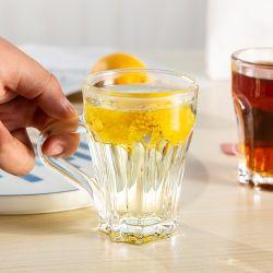 150ml 5.1oz 맞춤형 럭셔리 독특한 투명 유리 머그컵 크리스마스 리usable 커피 컵