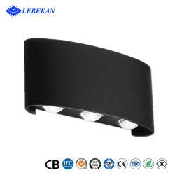 Lebekan Doppelseite Wasserdicht Aplique Pared 6 LEDs 6W Innenraum LED-Wanddekorationsleuchte für den Außenbereich