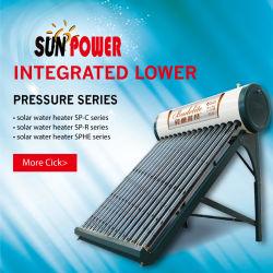Desempenho fiável de tubo de vácuo Non-Pressurized aquecedor solar de água Fabricado na China