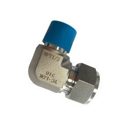 EMT 미터법 수 나사산 바이트 유형 튜브 피팅 스테인리스 스틸 플랜지 엘보 압축 커넥터