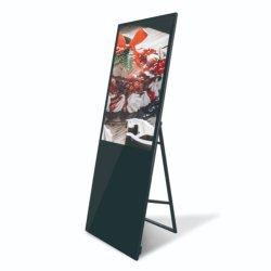 LCD portátil Digital Signage 32 / 43 polegadas pequeno ecrã de Publicidade Relógio Publicidade polegadas LCD Supermercado Digital Signage publicidade LCD da Máquina