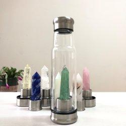 간단한 스타일의 핫 셀 자북 크리스탈 치유 물병 쿼츠 비즈니스를 위한 물병 알칼리 크리스탈 에너지 컵 음료