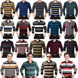 Смешайте цвет мужские футболки с длинными рукавами (H19-15)